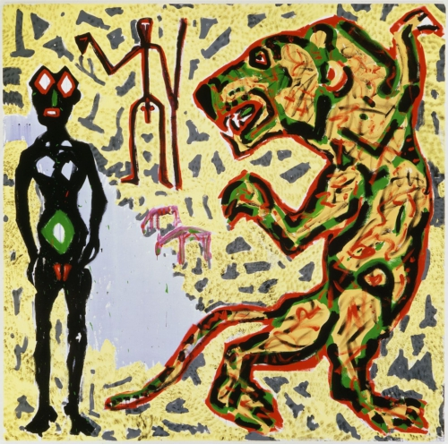 A. R. Penck painting