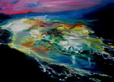 Joy Garnett painting 2009