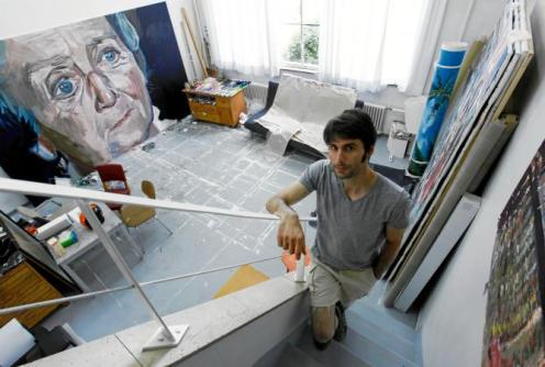 Olivier Larivière painter studio