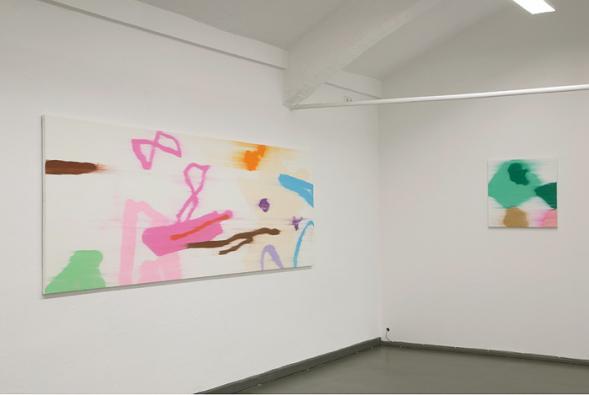 Bernd Mechler painting on show 01