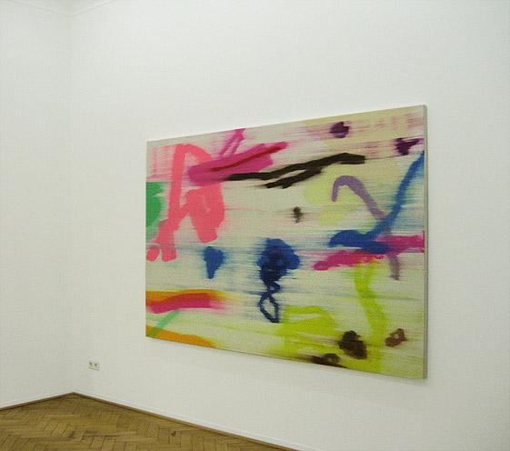 Bernd Mechler painting on show 02