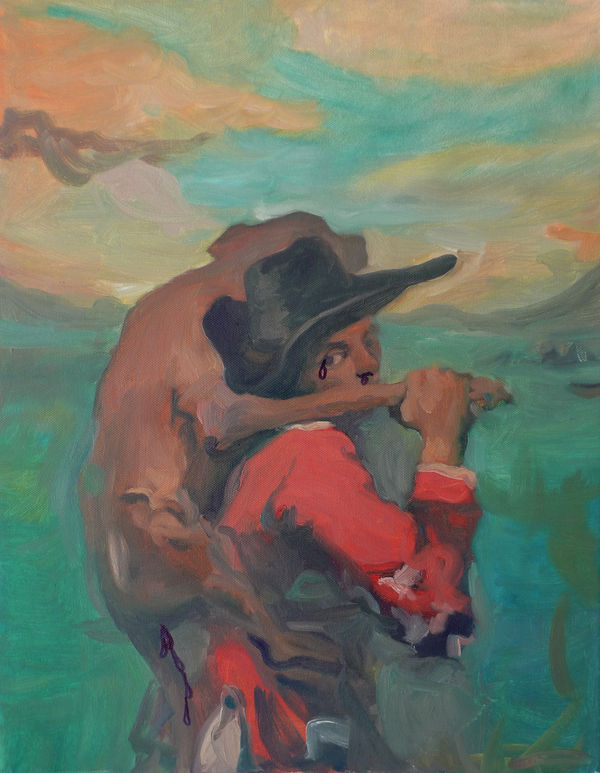 Tom Ellis painting