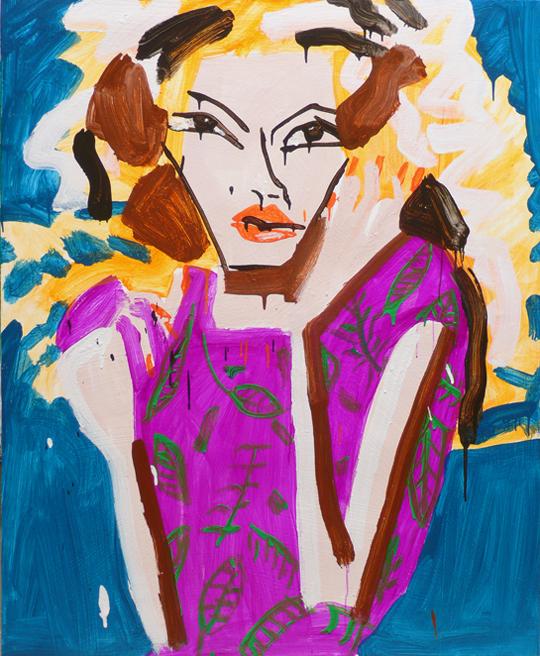 Katherine Bernhardt oil