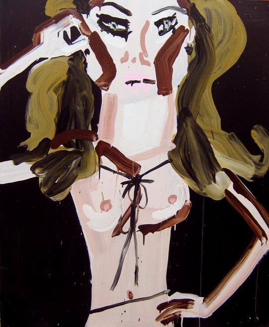 Katherine Bernhardt painting