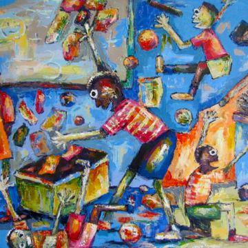 Kwadwo Ani painting