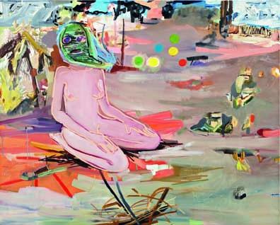 Janine Iversen painting