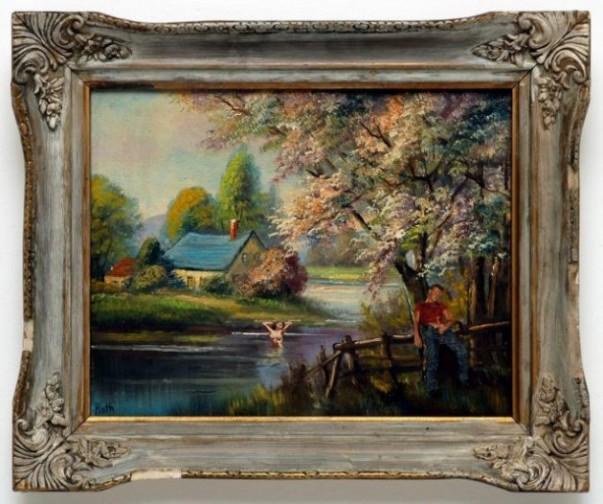 Dan Colen painting