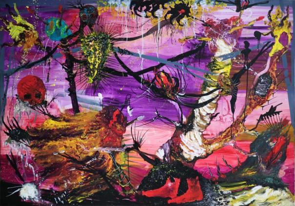 Cristine Guinamand painting